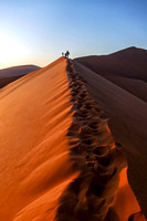 Climbing the Dune at Sossusvlei