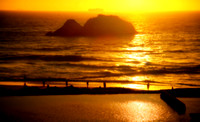 Sutro Baths at Sunset - Yellow