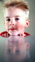 My friend's son in reflection