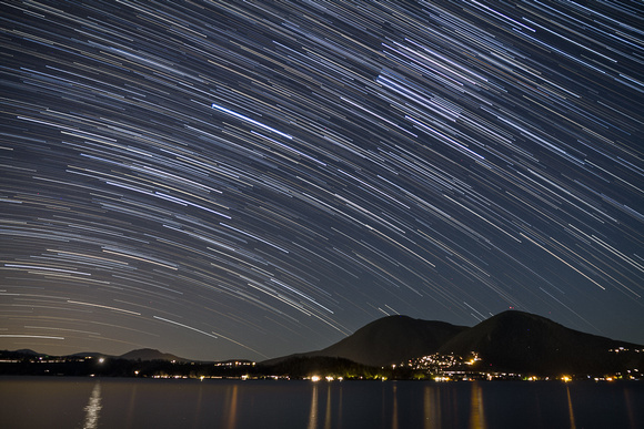 Star trails at Clearlake