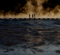 Walking at the Grand Prismatic Spring
